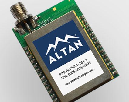 ALT5801 wireless transceiver module, 5.8 GHz, IEEE 802.15.4, small.