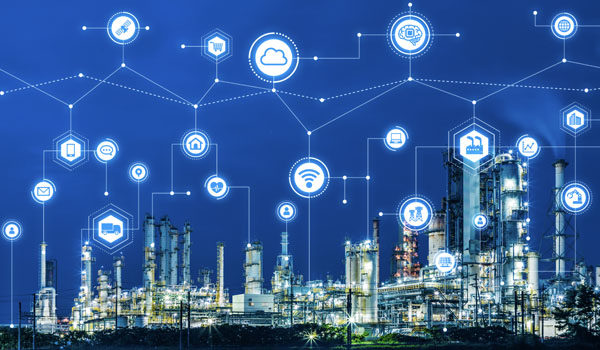 IIoT (Industrial Internet of Things) applications at industrial complex.
