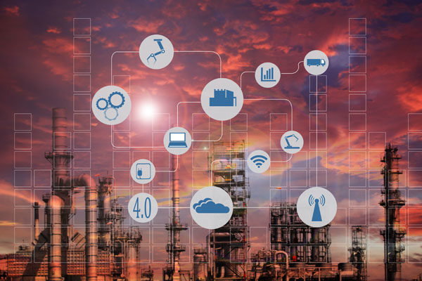 IIoT (Industrial Internet of Things) applications in industrial facility.