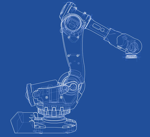 Mechanical design of industrial robot.